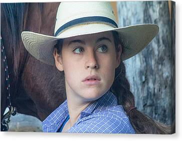 Cowgirl Look Canvas Print by Steven Bateson