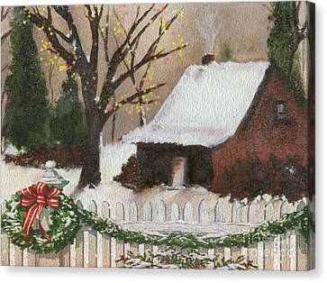 Cozy Cottage Canvas Print by Cheryl Young