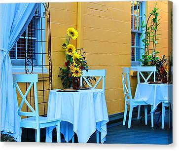 Cozy Table For Two Canvas Print by Cynthia Guinn