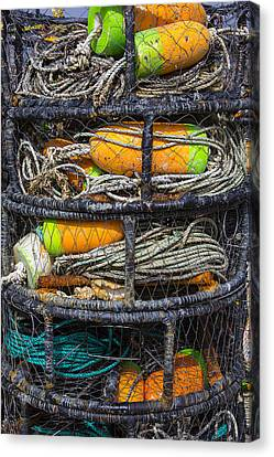 Crab Cages Canvas Print by Garry Gay