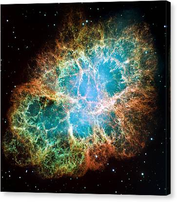 Crab Nebula Canvas Print by Space Art Pictures