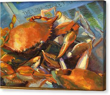 Crabilicious Canvas Print by John Albrecht