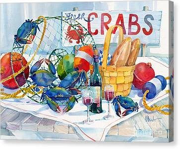 Crabs Galore Canvas Print by Paul Brent