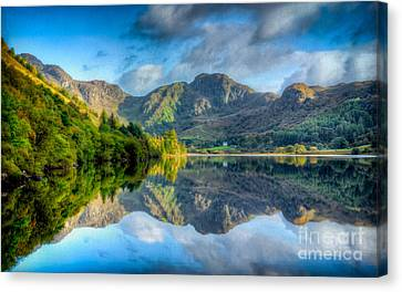 Craf Nant Lake Canvas Print by Adrian Evans
