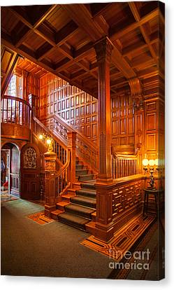 Craigdarroch Castle Entry Canvas Print by Mike Reid