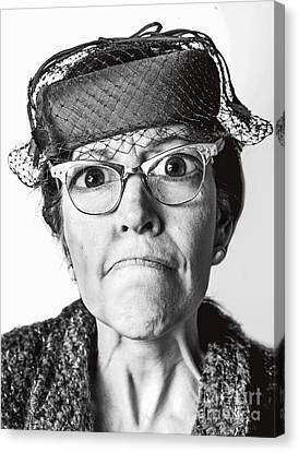 Cranky Old Lady Canvas Print by Diane Diederich
