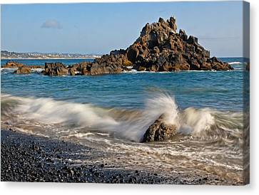 Crashing Of The Waves Canvas Print by Athena Mckinzie