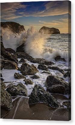 Crashing Sunset Canvas Print by Rick Berk