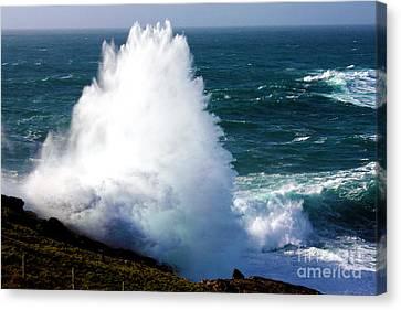 Crashing Wave Canvas Print by Terri Waters