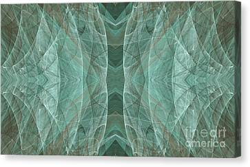 Crashing Waves Of Green 3 - Abstract - Fractal Art Canvas Print by Andee Design
