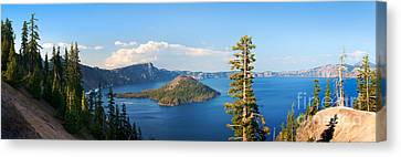 Crater Lake Panorama Canvas Print by Inge Johnsson