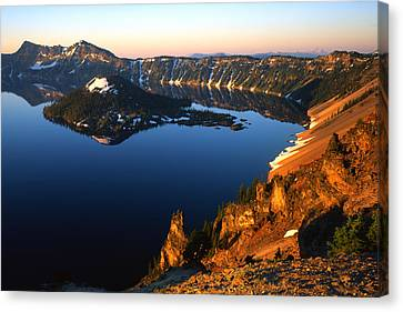 Crater Lake Sunrise Canvas Print by Ray Mathis