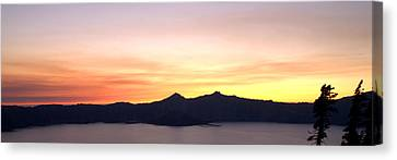 Crater Lake Sunset Canvas Print by Brian Harig