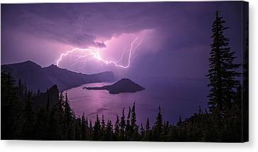 Crater Storm Canvas Print by Chad Dutson