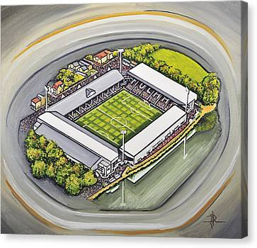 Craven Cottage - Fulham Fc Canvas Print by D J Rogers