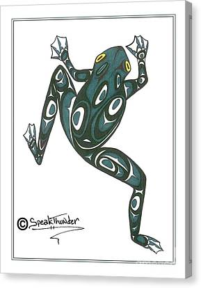 Crawling Tree Frog Canvas Print by Speakthunder