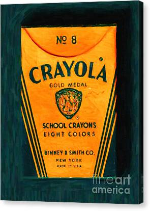 Crayola Crayons - Painterly Canvas Print by Wingsdomain Art and Photography