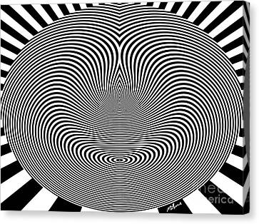 Crazy Circles Canvas Print by Methune Hively