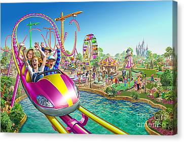 Crazy Coaster Canvas Print by Adrian Chesterman