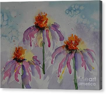 Crazy Cone Flowers Canvas Print by Gretchen Bjornson