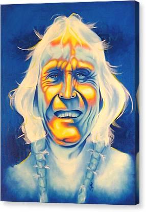 Crazy Man Canvas Print by Robert Martinez