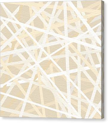 Cream And Tan Art Canvas Print by Lourry Legarde
