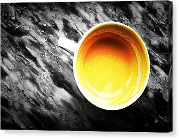 Creamy Coffee Canvas Print by Marco Oliveira