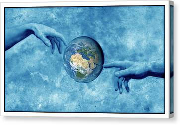 Creation Of The Earth Canvas Print by Detlev Van Ravenswaay