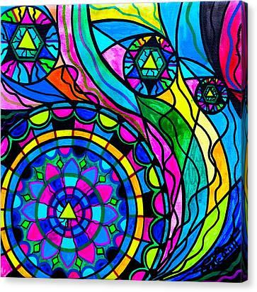 Creative Progress Canvas Print by Teal Eye  Print Store