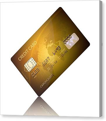 Credit Card Canvas Print by Johan Swanepoel