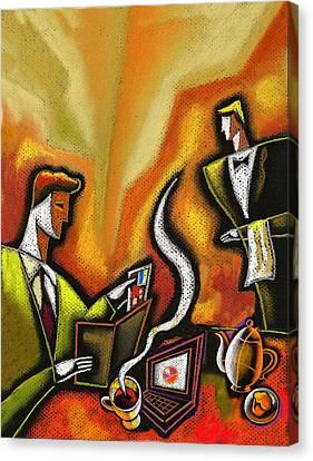 Credit Card Canvas Print by Leon Zernitsky