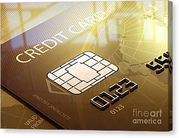 Credit Card Macro - 3d Graphic Canvas Print by Johan Swanepoel