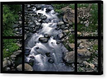 Creek Flow Polyptych Canvas Print by Peter Piatt