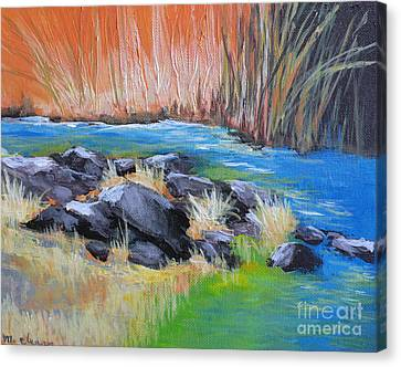 Creekside Canvas Print by Melody Cleary