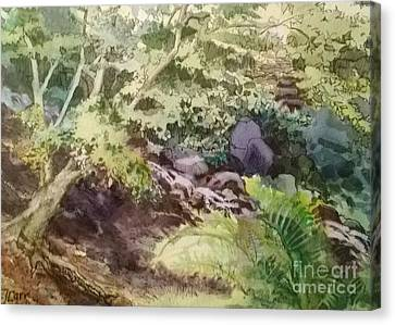 Creekside Smith Gilbert Gardens Canvas Print by Elizabeth Carr