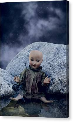 Creepy Doll Canvas Print by Joana Kruse