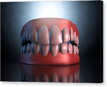 Creepy Teeth  Canvas Print by Allan Swart