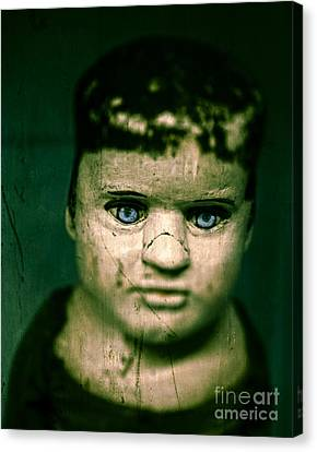 Creepy Zombie Child Canvas Print by Edward Fielding