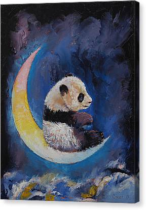 Crescent Moon Canvas Print by Michael Creese