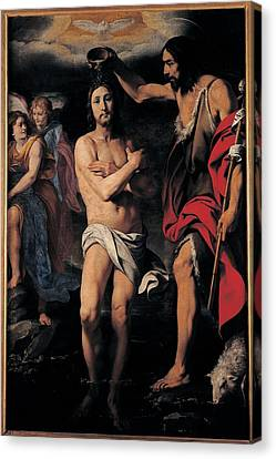 Crespi Daniele, The Baptism Of Christ Canvas Print by Everett
