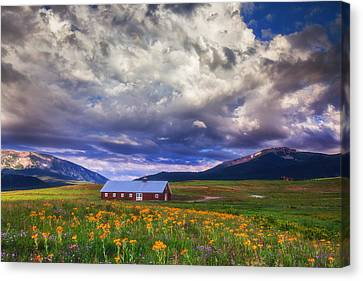 Crested Butte Morning Storm Canvas Print by Darren  White