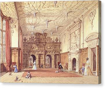 Crewe Hall, Cheshire Canvas Print by Joseph Nash