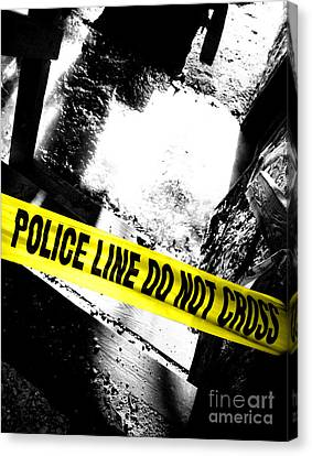 Crime Scene Canvas Print by Olivier Le Queinec