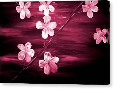 Crimson Cherry Blossom Canvas Print by Mark Moore