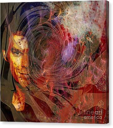 Crimson Requiem - Square Version Canvas Print by John Robert Beck