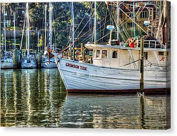 Crimson Tide In The Sunshine Canvas Print by Michael Thomas