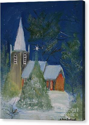 Crisp Holiday Night Canvas Print by Louise Burkhardt