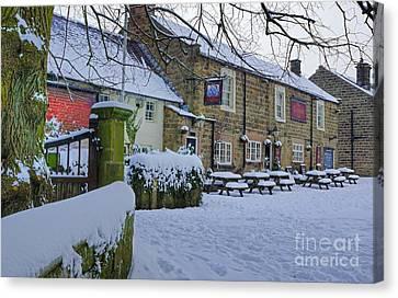 Crispin Inn At Ashover Canvas Print by David Birchall