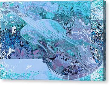 Cristal Violin Canvas Print by Moustafa Al-Hatter