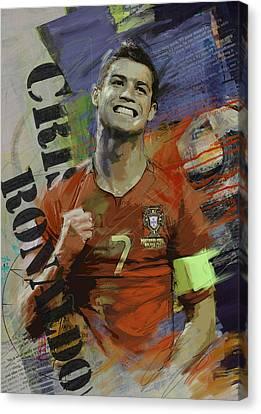 Cristiano Ronaldo - B Canvas Print by Corporate Art Task Force